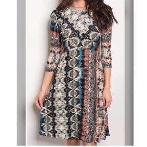 Tribal Print Swing Dresses